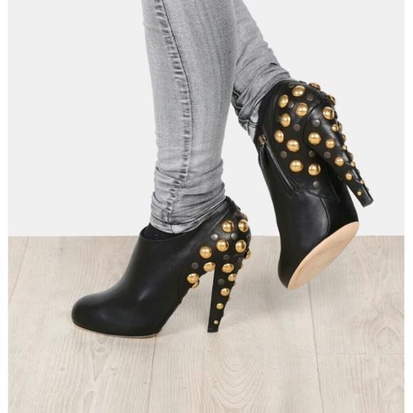 ea758d640 Gucci Shoes | Babouska Black Leather Studded Booties | Poshmark